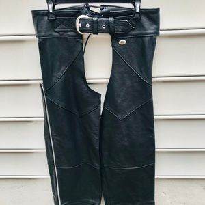 HARLEY DAVIDSON LEATHER MOTORCYCLE CHAPS
